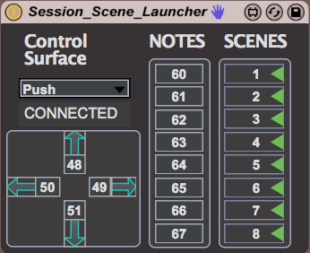 Session Scene Launcher