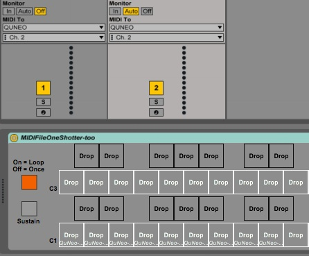 MIDI File One Shotter (for Quneo LED animations+)