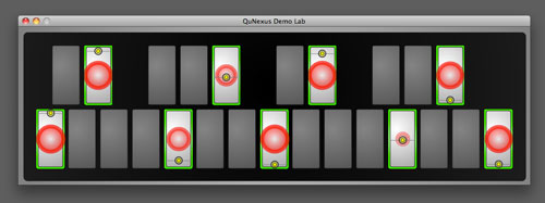 QuNexus Demo Lab Sensor View