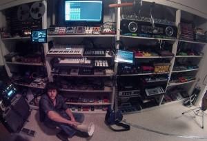 Daniel Rowland in the Magic Closet at Studio Belew