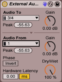 Ableton Live External Audio