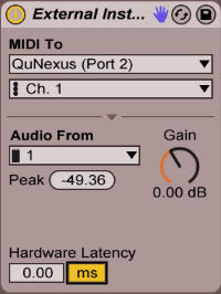 Ableton Live External Instrument