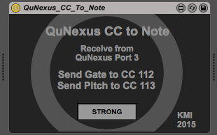 QuNexus CC to Note