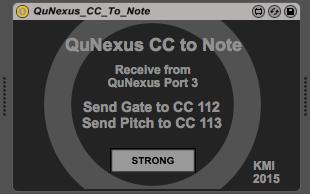 QuNexus CC to Note