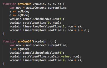 envelope-generator-functions