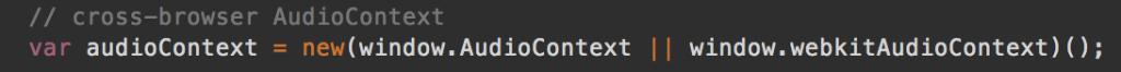 Cross-browser AudioContext creation